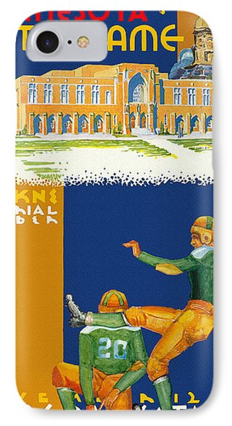 Notre Dame Versus Minnesota 1938 Program IPhone Case