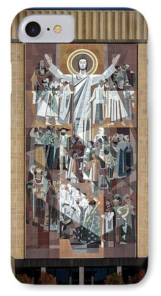 Notre Dame's Touchdown Jesus Phone Case by Mountain Dreams