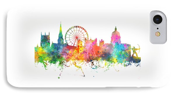 Nottingham  England Skyline IPhone Case