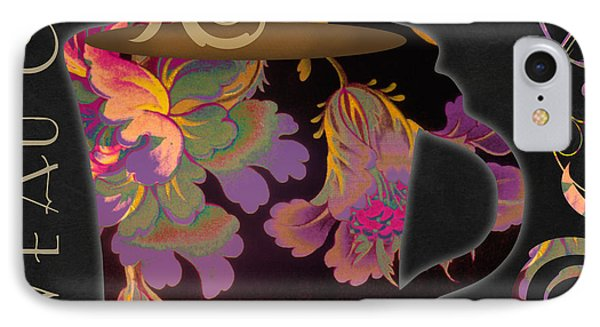 Nouveau Cafe Warm IPhone Case by Mindy Sommers