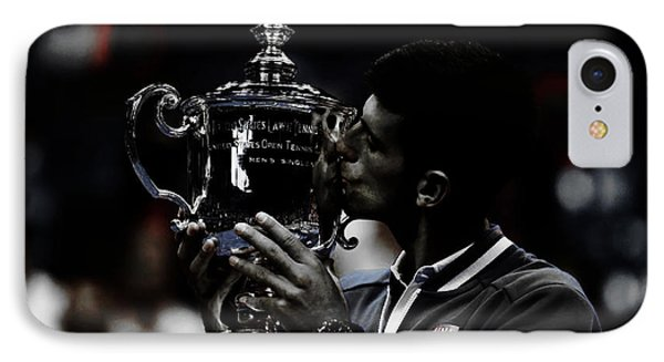 Novak Djokovic IPhone Case by Brian Reaves