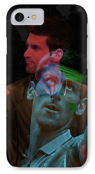Novak Djokovic Double Color Exposition IPhone Case by Srdjan Petrovic