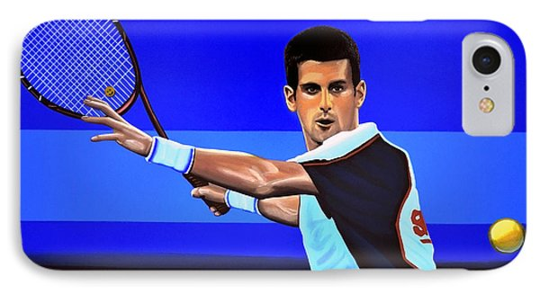 Novak Djokovic IPhone Case by Paul Meijering