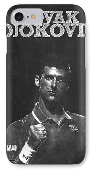 Novak Djokovic IPhone 7 Case by Semih Yurdabak