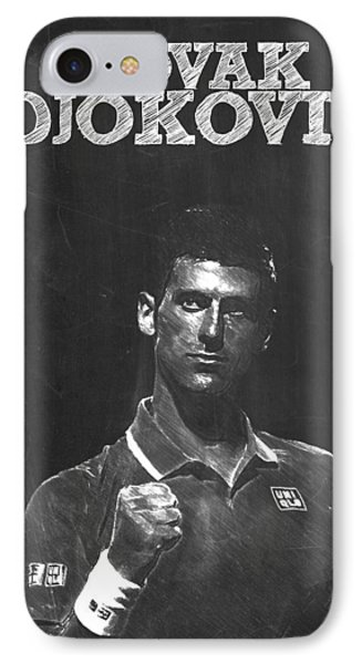 Novak Djokovic IPhone Case by Semih Yurdabak