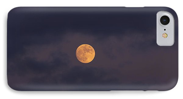 November Full Moon With Plane Phone Case by Angela A Stanton