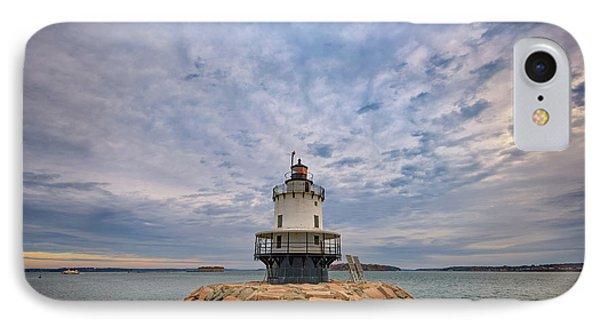 November Morn At Spring Point Ledge Light Station IPhone Case by Rick Berk