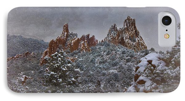 IPhone Case featuring the photograph November Snow - Garden Of The Gods by Ellen Heaverlo