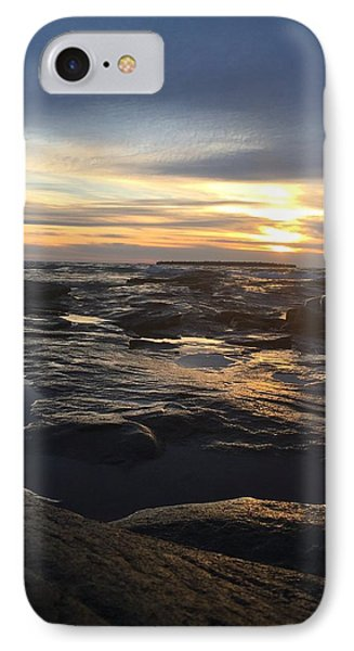 November Sunset On Lake Superior IPhone Case