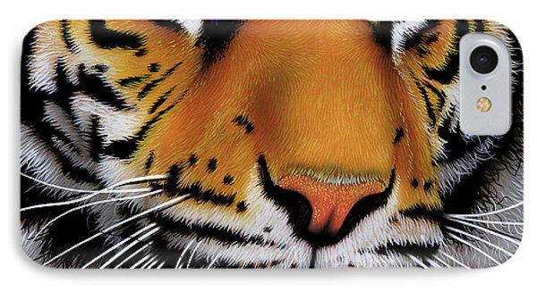 November Tiger IPhone Case by Jurek Zamoyski
