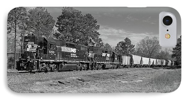 Norfolk Southern P77 In Black And White IPhone Case