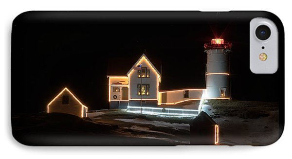 Nubble At Night IPhone Case by Patrick Fennell