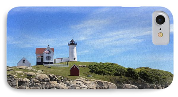 Nubble Light House IPhone Case by Linda Constant