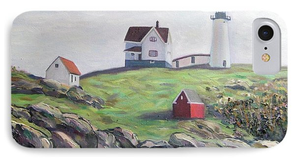 Nubble Light House Phone Case by Richard Nowak