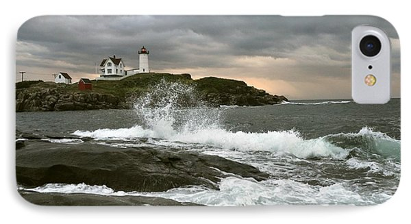 IPhone Case featuring the photograph Nubble Light In A Storm by Rick Frost