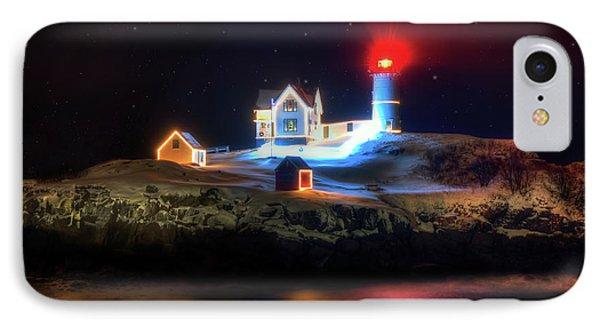 Nubble Lighthouse At Night - Cape Neddick Maine IPhone Case