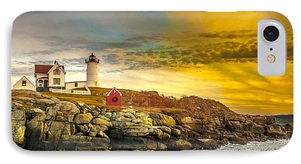 Nubble Lighthouse At Sunset IPhone Case