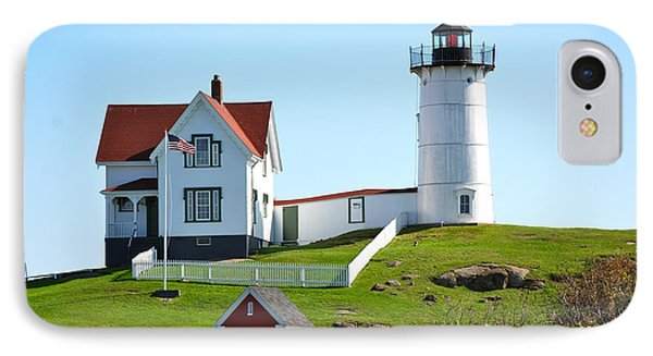 Nubble Lighthouse IPhone Case by Eric Tressler
