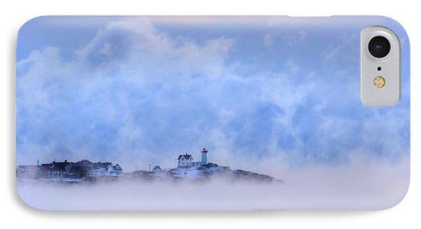 Nubble Lighthouse Sunrise With Sea Smoke - York, Maine IPhone Case