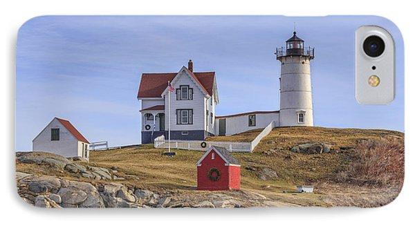 Nubble Lighthouse York Maine IPhone Case by Edward Fielding