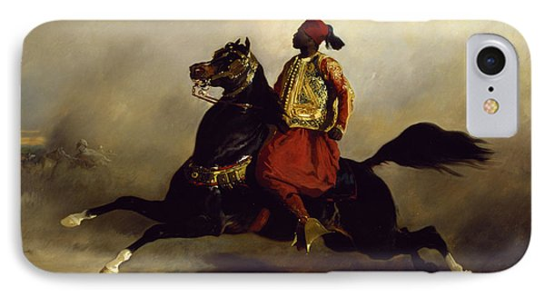 Nubian Horseman At The Gallop IPhone Case by Alfred Dedreux or de Dreux