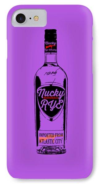 Nucky Thompson Boardwalk Rye Whiskey Tee IPhone Case by Edward Fielding