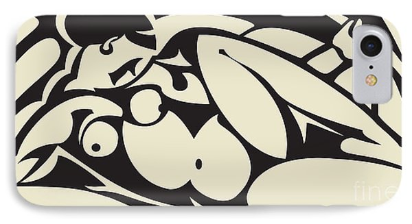 Nude Black And White IPhone Case