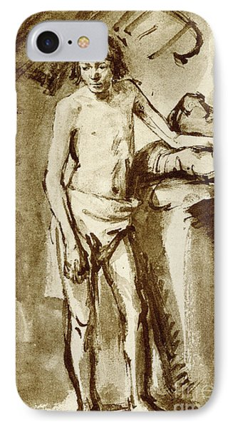 Nude Drawing For A Youth IPhone Case by Rembrandt Harmensz van Rijn