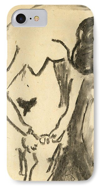 Nude  IPhone Case by Ernst Ludwig Kirchner