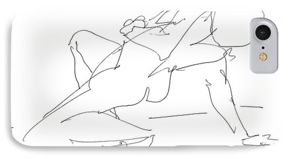 Nude-female-drawing-17 IPhone Case by Gordon Punt