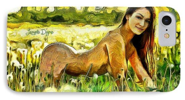 Nude Flower IPhone Case by Leonardo Digenio