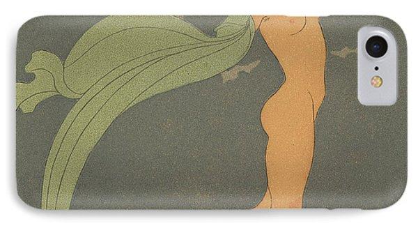 Nude   Le Silence De Mnasidika IPhone Case by Georges Barbier