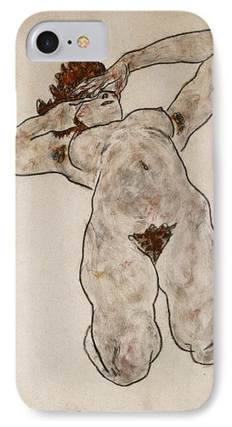 Nude Lying Down Phone Case by Egon Schiele