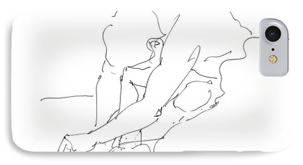 Nude Male Drawings 8 IPhone Case by Gordon Punt