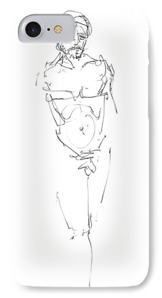 Nude Male Drawings 9 IPhone Case by Gordon Punt