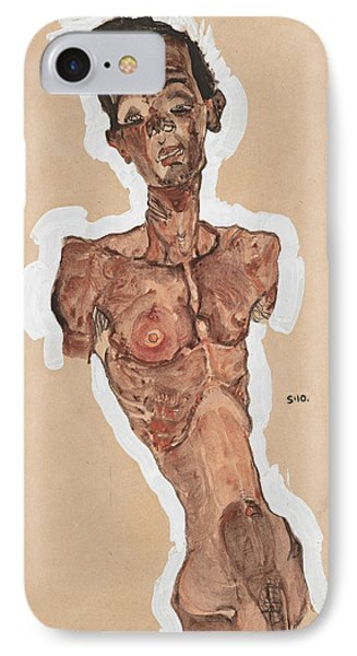 Nude Self-portrait IPhone Case by Egon Schiele