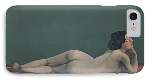 Nude Stretched Out On A Piece Of Cloth IPhone Case by Felix Edouard Vallotton