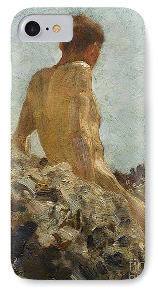 Nude Study IPhone Case by Henry Scott Tuke