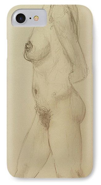 Nude Torso Standing IPhone Case by Rand Swift