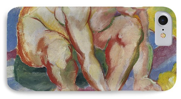 Nude With Cat IPhone Case by Franz Marc