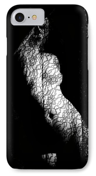 Nude With Lace IPhone Case by Joe Kozlowski