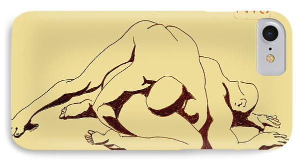 Nude Wrestlers 4 IPhone Case