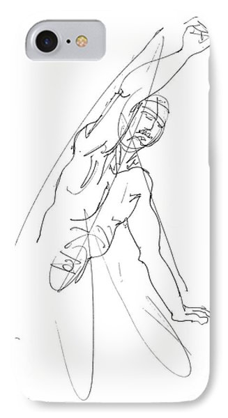 Nude_male_drawing_25 Phone Case by Gordon Punt