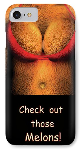 Nudist - Check Out Those Melons - Nudist Grocer Phone Case by Mike Savad