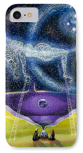 Nuit And The Seven Sisters IPhone Case by Shelley Irish