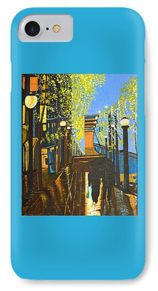 IPhone Case featuring the painting Nuit De Pluie by Donna Blossom