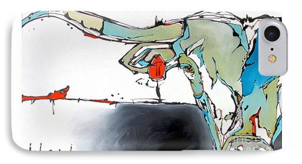 Number 17 Longhorn Steer IPhone Case by Nicole Gaitan