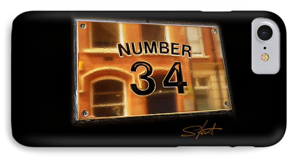 Number 34 Phone Case by Charles Stuart