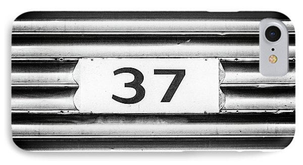 Number 37 Metal Square IPhone Case by Terry DeLuco