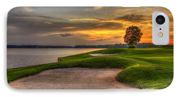 IPhone Case featuring the photograph Number 4 Sunset Traps Reynolds Plantation by Reid Callaway